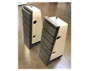 (2) CAST IRON T-SLOTTED ANGLE PLATES, Overall Width 1', Overall Height