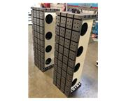 """(2) CAST IRON T-SLOTTED ANGLE PLATES, Overall Width 18"""", Overall Heigh"""