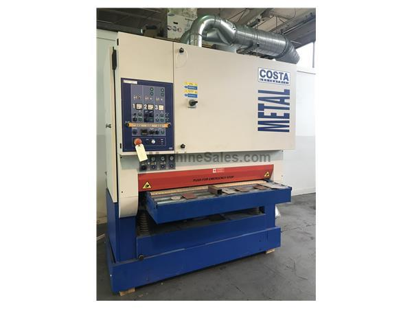 USED COSTA MODEL MD5-CV-1350 WIDE BELT DEBURRING AND FINISHING MACHINE