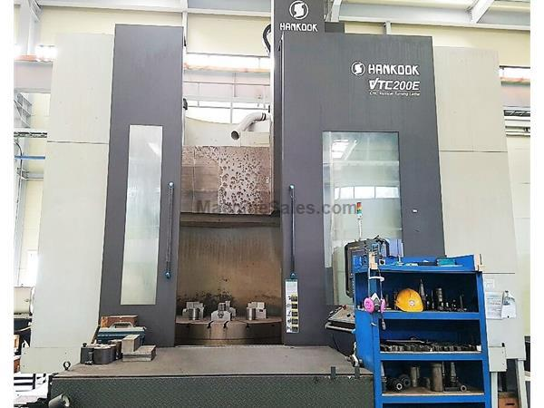 "Hankook VTC-200E 78"" CNC Vertical Boring Mill"