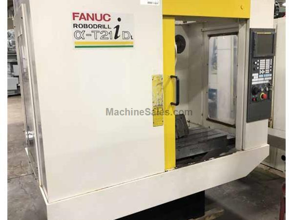 Fanuc Robodrill T21iDL 3-Axis Turret Style Vertical Machining Center