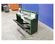 16 ga. x 4' Tengzhou Tri-Union Machinery Co #Q01-1.5x1320, import foot shear, 13483, safet
