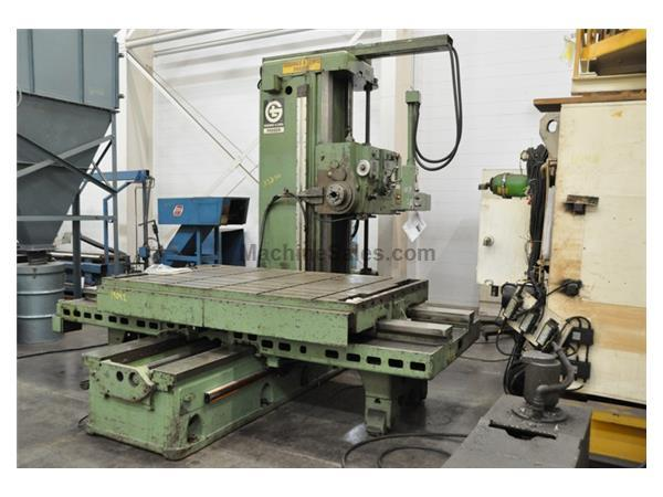 "5"" GIDDINGS & LEWIS TABLE TYPE HORIZONTAL BORING MILL"