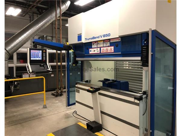 "TrumaBend V850 95 Ton x 87"" 8-Axis CNC Press Brake"