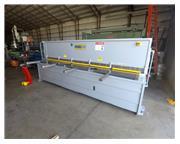 """2007 1/4"""" x 12' Primeline Hydraulic Shear, programmable back gauge"""
