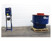 "10 Cu. Ft. GIANT GBB-10, NEW 2007, BATCH TYPE, ROUND BOWL VIBRATORY FINISHER, 55"" BOW"