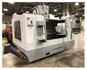 USED HAAS 4 AXIS VERTICAL MACHINING CENTER MODEL VF8B/40, 2005, STOCK#10645