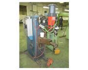 "100 KVA British Federal Stronghold, pneumatic press type spot welder, 23"" thrt, 1989"