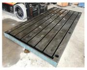 "144"" x 72"" x 6"" Fabricated steel surface plate / layout table, 1"" T-sl"