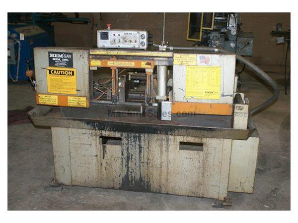 "9"" x 11"" HEM # H-75A , automatic horizontal band saw, 60-300 SFPM, 1988, #8276"