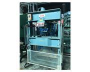 75 Ton, Dake # 5-264 Elec-Draulic H-frame press, double acting presshead, V/S, pressure ga