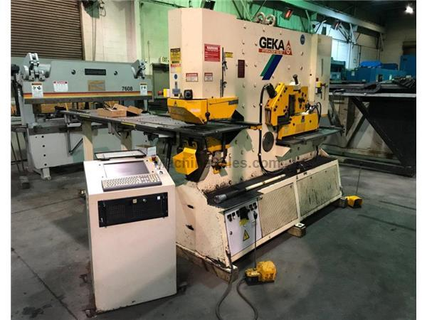 "8"" x 8"" x 3/4"" Geka # 165SD Semi Paxy hyd ironworker,20"" x 80"" CNC punch table,185 ton"