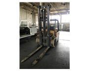 """12500 lb. Hyster , propane forklift, 220"""" lift ht,72"""" forks,2-stage mast,2-spd g"""
