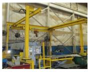 .5 Ton, OMH free standing overhead bridge crane, powered chain lift, 17' x20', pendant con