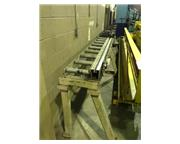 "Custom Built, 237"" x 9.5"" x 37"" stop conveyor, 3"" adj., 1-7/8"" di"
