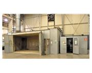 USED SPRAY SYSTEMS WATER COLUMN STYLE ENCLOSED PAINT SPRAY BOOTH