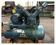 20 HP Kellogg / Compair, 2-stage tank mounted air compressor, 81 cfm, 175 psi, 6 quart oil