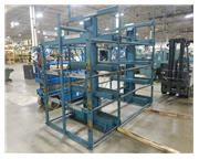 12' Steel Storage System, Space Saver, Roll-Out Bar and Tube Storage Rack