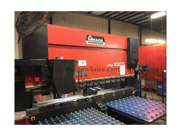 "110 TON X 10' AMADA HFB 1003/8 ""DOWNACTING"" CNC PRESS BRAKE W"
