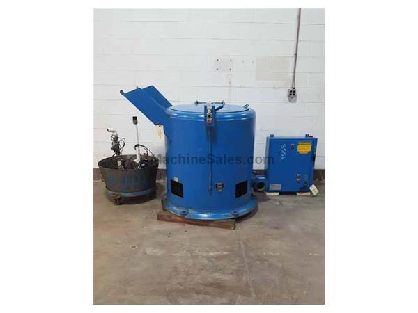 BARRETT 1100 AUTOMATIC POST TYPE CENTRIFUGAL SLUDGE AND CHIP SPINNING OIL E