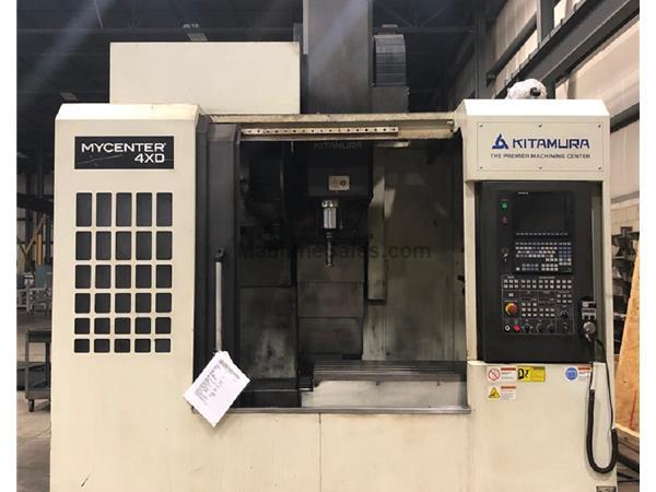 "KITAMURA MYCENTER-4XD#50 VMC, BOX WAYS & 4TH AXIS ROTARY TABLE, 43.3"" X"