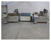 2) USED FLOW MACH 2 1313B CNC WATERJETS WITH FLOW 20XW 100 HP PUMP, 4' X 4'