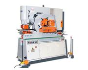 66 TON US INDUSTRIAL MODEL USHI-66T-DO-XT HYDRAULIC IRONWORKER WITH DUAL OPERATOR STATIONS