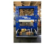 "200 Ton 20"" Stroke Pressmaster RTP-200 H-FRAME HYDRAULIC PRESS, Roll-In Table Press"