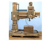 """4' Arm Lth 13"""" Col Dia Ikeda RM1300 RADIAL DRILL, Box Table, Power Elevation  Clampin"""