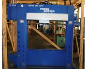 "100 Ton 12"" Stroke Pressmaster HFBP-100/12 MWH H-FRAME HYDRAULIC PRESS, w/12 Ton Broa"