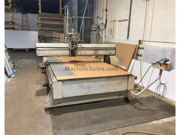 "10"" X Axis 5"" Y Axis MULTI-CAM MG 204 CNC ROUTER, Multi-Cam Cntrl,7.5 HP Colombo Hd, 25 HP Vacuum Tb"