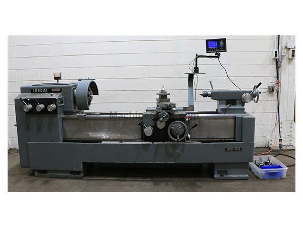 "20"" Swing 60"" Centers Ikegai A20 ENGINE LATHE, Inch/Metric, Newall DRO, 3-Jaw, 10 HP,"