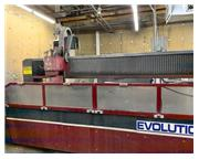 50HP Motor 60000 PSI Mitsubishi Evolution X5 WATER JET CUTTING MACHINE, Low Hours and Ligh
