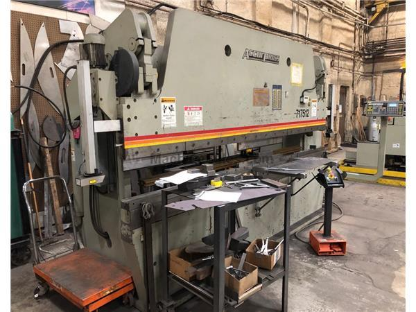 2002 Accurpress 717512, 12' x 175 Ton, 2 Axis CNC