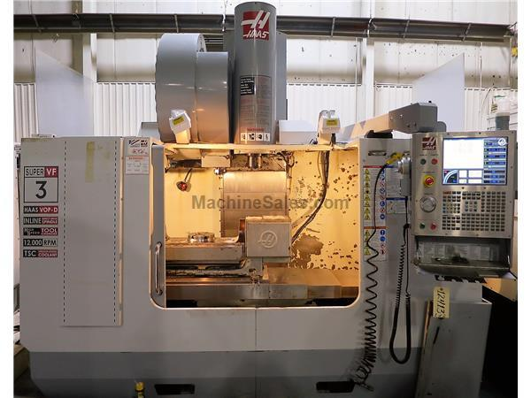 HAAS VF-3SS SUPER SPEED 5-AXIS CNC VERTICAL MACHINING CENTER NEW 2007