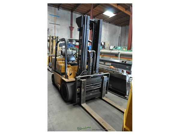 "12500 lb. Caterpillar # T12D , 177"" lift height, 51"" carraige width, propane, triple mast, side shift, fork shift, 2-speed auto transmission, hard tir"