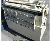 "Gauer # 5H40 , edge deburring machine, 11 ga. x 40"", feed tray, #8682"