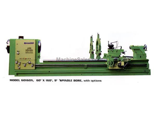 "60"" Swing 200"" Centers Sharp 60200X Heavy Pattern ENGINE LATHE, 40 HP, Spdl Bores Up to 12.5"""