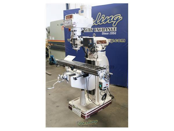 "Accupath # AC-2V-949 , 9"" x 49"" table., 3 HP, 35.5"" X,12.5"" Y,16"" Z, X table power feed, Newall 2-Axis DRO, #A5929"