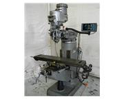 "48"" Table 2HP Spindle Bridgeport Series I VERTICAL MILL, Vari-Speed, Acurite DRO,Serv"