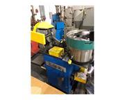 MORONI RIVET ASSEMBLY MACHINE MODEL RP-10, W/VIBRATORY BOWL & ROTARY FE