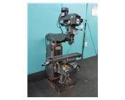 "LAGUN FTV1 Vertical Turret Milling Machine, 9"" x 42"" Table, R8 Sp"