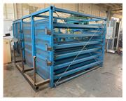 USED STEEL STORAGE SYSTEMS ROLL OUT MATERIAL STORAGE RACK SYSTEM