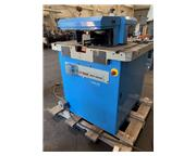 USED EUROMAC VARIABLE ANGLE NOTCHER WITH 22 TON PRESS END MODEL 200/6 MULTI