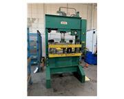 """75 Ton, Dake # 908-18 , H-frame hydraulic press, 17"""" stroke, 18"""" DL, 1"""" clo"""