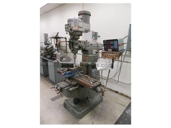 "42"" Table 2HP Spindle Bridgeport SERIES I VERTICAL MILL, Vari-Speed, R-8 , Acu-Rite DRO, Servo Pwr Feed"