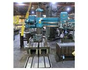 """5' Arm Lth 11"""" Col Dia Carlton 1A RADIAL DRILL, Box Table,Power Elevation  Clamping,#"""