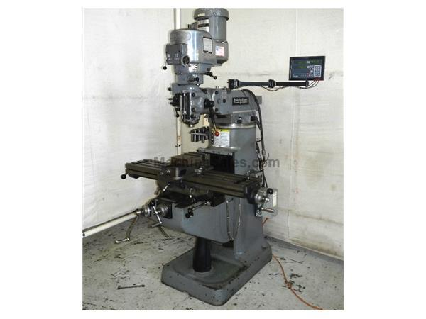 "42"" Table 2HP Spindle Bridgeport Series I VERTICAL MILL, Vari-Speed, R8, Chrome, Bijur One Shot"