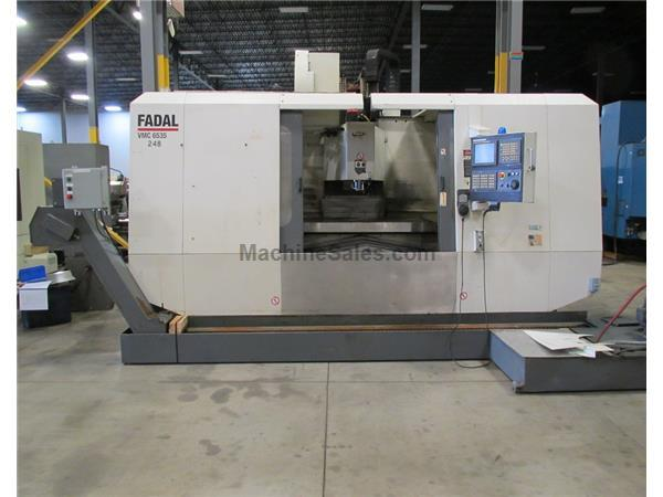 "FADAL MODEL VMC6535HT VERTICAL MACHINING CENTER WITH FANUC CONTROL, 65"" x 3"