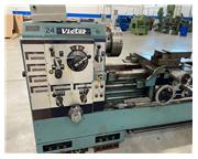 "24"" x 120"" Victor gap bed lathe, taper attach, 4-1/8"" bore, 2000 RPM, 3-jaw"